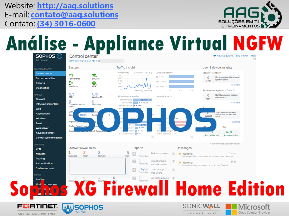 Análise - Appliance Virtual NGFW Sophos XG Firewall Home Edition